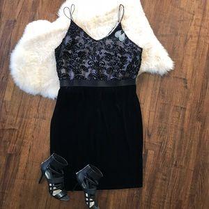 Xhilaration Lace Holiday Dress velvet skirt